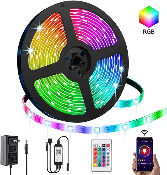 LED 长条灯 LPENG 5m RGB 绳灯 16 5050 SMD 变色灯带 APP 控制器同步音乐申请家庭厨房卧室派对电视装饰