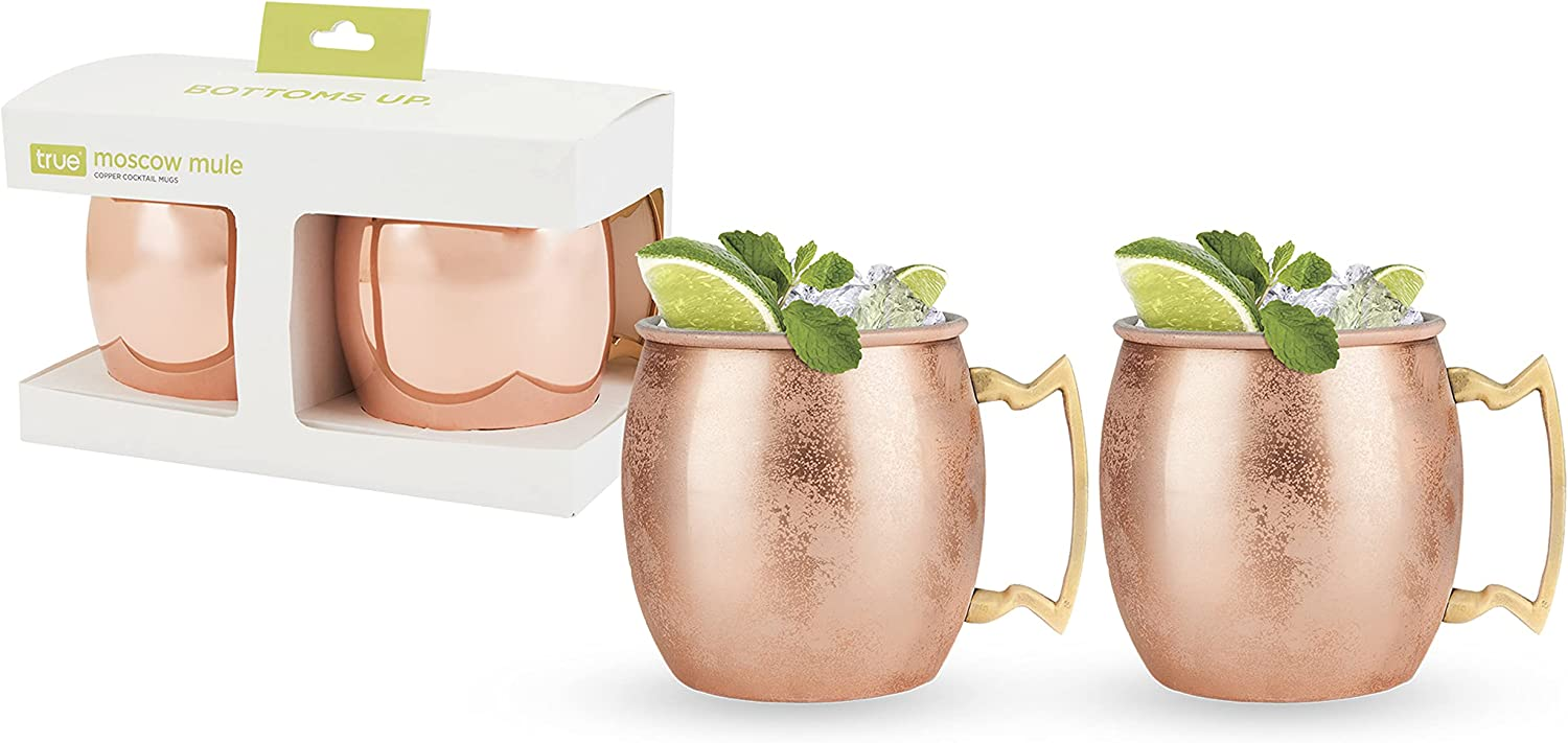 True Moscow Mule: Copper Cocktail Mug Pack Mail order cheap Size One 2 Limited time for free shipping Multico
