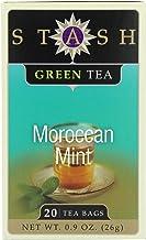 Stash Tea Green Tea (contains caffeine) - Moroccan Mint 20 foil tea bags (Pack of 5)