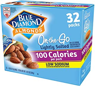 Blue Diamond Almonds, Lightly Salted, Low Sodium, 100 Calorie Packs, 0.6oz, 32 Count