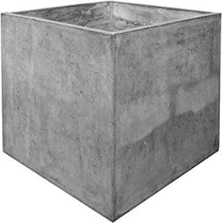 Cubo 60x60cm Square Polished Concrete Planter Dark Grey