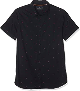 0293f21781f6c Scotch & Soda Regular Fit-All-Over Printed Short Sleeve Shirt Chemise  Casual Homme