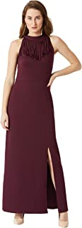Miss Chase Women's Crepe Halterneck Dress