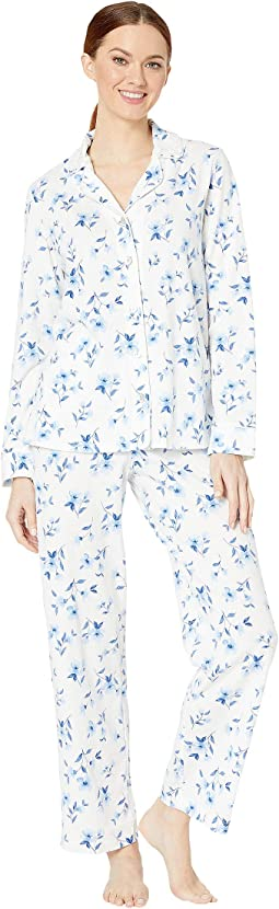 White/Blue Floral
