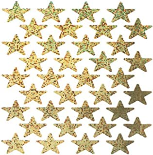 Eureka Back to School Gold Glitter Star Stickers for Kids and Teachers, 72pc