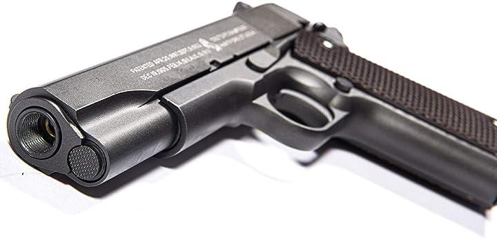 Pistola softair colt m1911 a1 anniversary - full metal, semi automatica cybergun B01N2WACDL