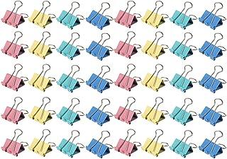 40 morsetti a colori multipli da 19 mm Clip per raccoglitore in metallo