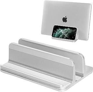 縦置きノートパソコンスタンド 収納ノートPCスタンド 調節可能 滑り止めブレットPCスタンド MacBook/iPad/laptop/iPhone/携帯電話適用パソコンスタンド アルミ合金素材ラップトップスタンド