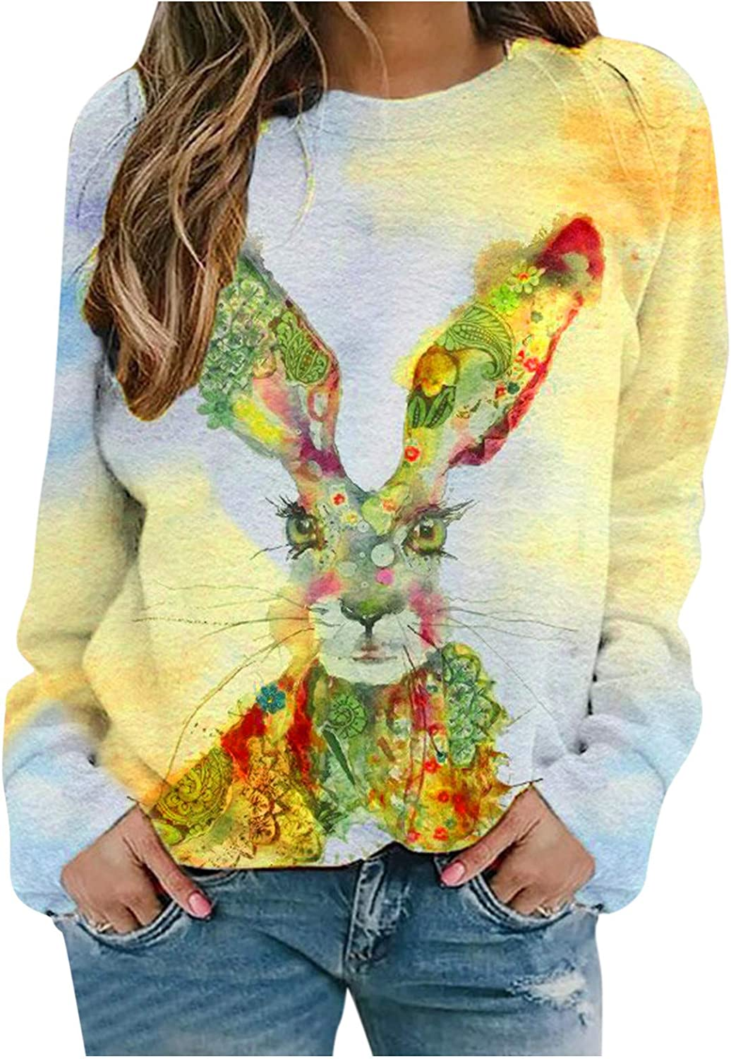 Nulairt Sales of SALE items from new works Pullover Tops for Women Ca Animal Cheap bargain Sweatshirts Print Cute