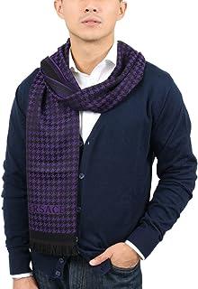 Versace IT00631 VIOLA Purple 100% Wool Mens Scarf