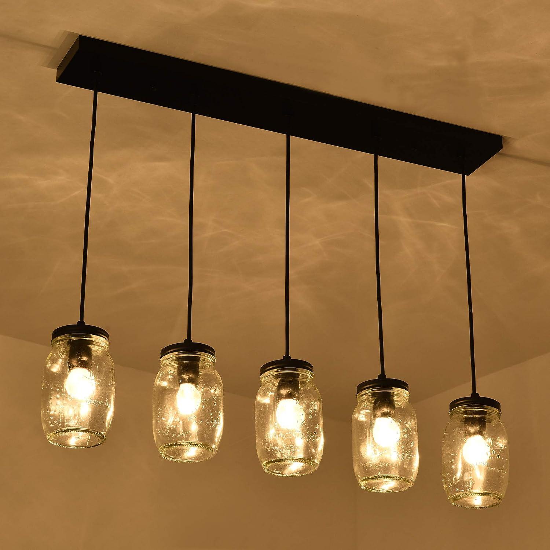 5 Super beauty product restock quality top! Lights Farmhouse Dining Room Mason Fixture Adjustable Ja Sale Special Price Light