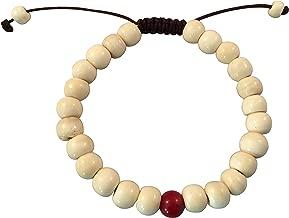 Hands Of Tibet Tibetan Mala Yak Bone Wrist Mala/Bracelet for Meditation