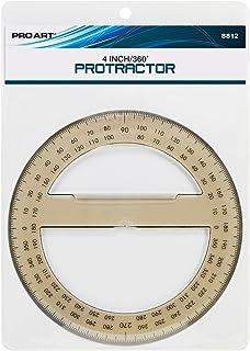 "Pro Art 4"" Protractor, 360-Degree"
