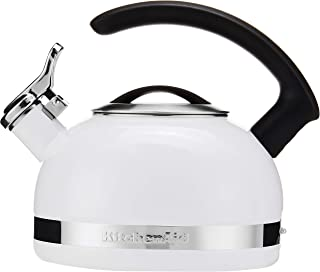 KitchenAid KTEN20CBWH 2.0-Quart Kettle with C Handle and Trim Band – White