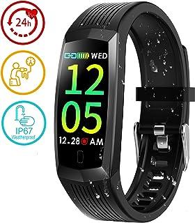 LIDOFIGO Smartwatch, Reloj Inteligente Pulsera Actividad Hombre Mujer, Inteligente Reloj Deportivo Reloj Fitness con Cronómetros Pulsómetro para iPhone iOS Android