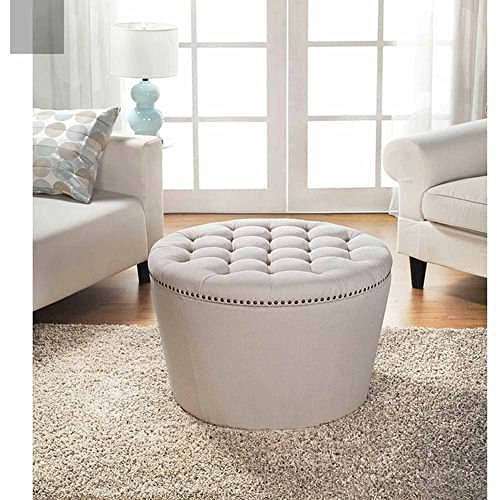 Pleasant Round Tufted Ottoman Amazon Com Inzonedesignstudio Interior Chair Design Inzonedesignstudiocom