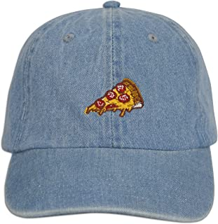 JLGUSA Pizza Embroidered Dad Cap Hat Adjustable Polo Style Unconstructed