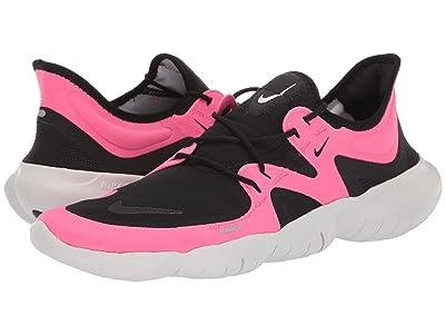 Nike Free RN 5.0 (Pink Blast/Black/Platinum Tint) Men