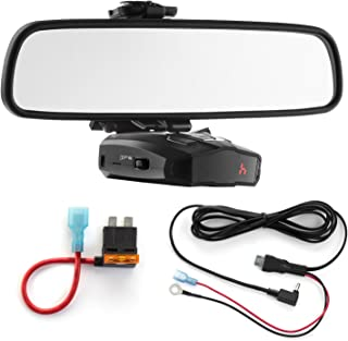 Radar Mount Mirror Mount Bracket + Direct Wire Power Cord + ATO Fuse Tap for Cobra (3001303)