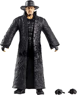 WWE Undertaker Elite Series #80 Deluxe Action Figure with Realistic Facial Detailing, Iconic Ring Gear & Accessories