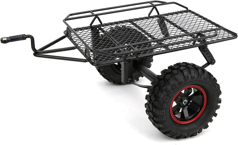 Modelo de Coche RC Remolque - Modelo de Metal Coche pequeño Remolque Apto para Traxxas TRX4/Axial SCX10 D90 CC01 1/10 RC camión
