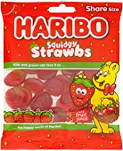 Original Haribo Squidgy Strawbs Sweets Gummy Candy Imported From The UK England The Very Best Of British Haribo Gummy Candy Strawberry Flavour Soft Jelly Pieces Haribo Strawbs 140g