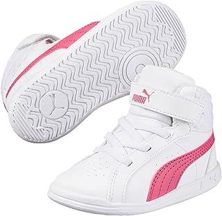 PUMA Juniors Ikaz Mid V2 V Ps, White-Rapture Rose, Running Shoes