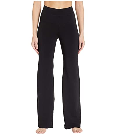 Hard Tail High-Rise Wide Flare Pants (Black) Women