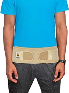 Sacroiliac Si Hip Brace by Sparthos - Immediate Relief for Siatic, Pelvic, Low Back and Leg Pain - Hip Joint Support for Women and Men - for Sacral Nerve, Waist, Pregnancy (Beige-XL+)