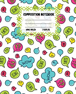 Composition Notebook Wide Ruled: Bubble Colourful Workbook for Girls Boys for Writing - Pretty Journal for Kids - Unique G...