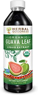 Guava Leaf Extract Juice - Carb Blocker | Fat Burner | Healthy Blood Sugar | Hair Re-Growth - Skin & Nails- Organic, Kosher, 100% Pure, Energy Boost | Digestion & Immunity - 12 oz bottle - made in USA