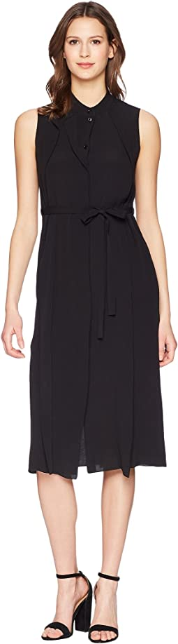 Jil Sander Navy - Sleeveless Crepe De Chine Dress
