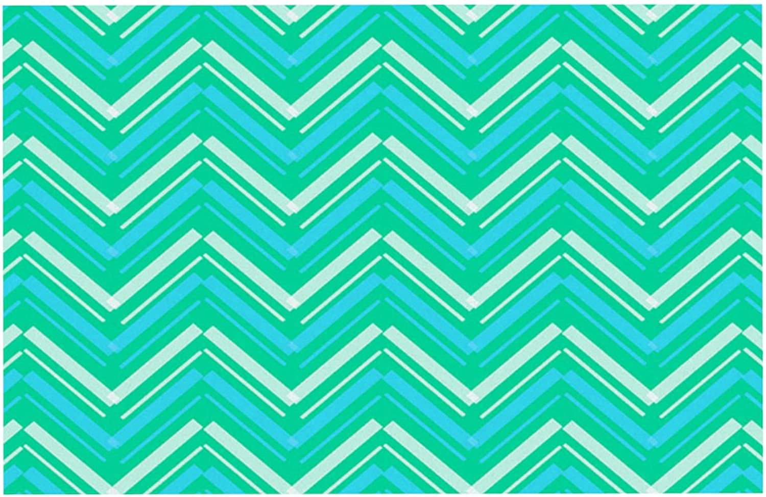 Kess InHouse CarolLynn Tice Symetrical  Teal Turquoise Pet Bowl Placemat for Dog and Cat Feeding Mat, 24 by 15Inch