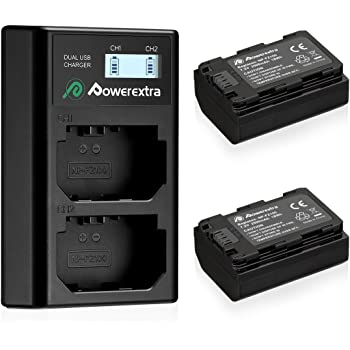 Powerextra Replacement Sony NP-FZ100 Battery and Dual USB Charger for Firmware 2.0 Sony Alpha A7 III, A7R III, A9, Sony Alpha 9, A7R3, a6600, a7R IV, Alpha a9 II, Alpha 9R, A9R, Alpha 9S Camera