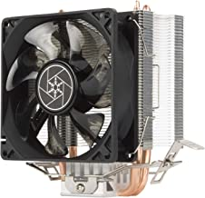 Silverstone KR03 Krypton CPU Cooler, 92mm Blue LED Fan, 2000 RPM, Hydraulic Bearing, Copper Heat Pipes with Aluminum fins,...