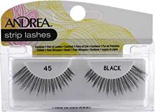 Andrea Lashes Strip Style 45 Black (3 Pack)