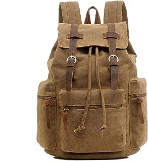 Men's Backpack Vintage Canvas Backpack School Bag Men's Travel Bags Large Capacity Travel Laptop Backpack Bag