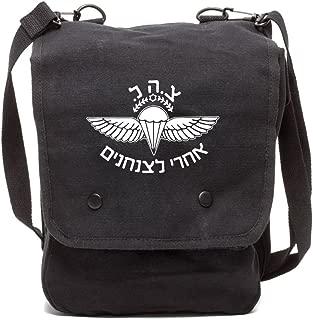 Army Force Gear Israeli Paratrooper Canvas Crossbody Travel Map Bag Case