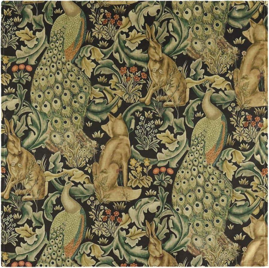 NaiiaN William Morris druckt Vintage Waldkaninchen Wolf Tier Tischw/äsche 1 St/ück f/ür Familienbankette Hochzeiten Partys Restaurant Stoff Servietten Abendessen Shepherd Print