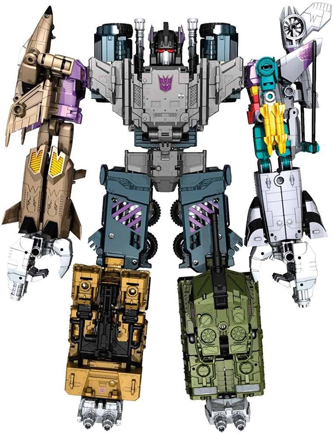Transformers Generations Combiner Wars Bruticus Action Figure Set [Onslaught, Vortex, Brawl, Swindle and Blast Off] by Transformers