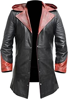 Devils Cry 4 Trench Coat Dante Maroon Leather Coat Synthetic Leather