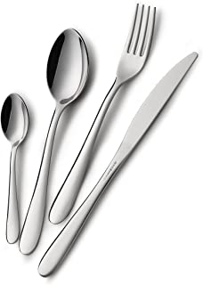 24 Piece 18/10 Stainless Steel Cutlery Set for 6 People