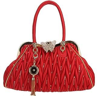 red skull clutch bag