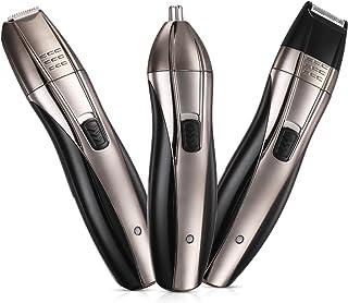 Recortador de Nariz 3 en 1 Afeitadora Eléctrica Hombre Afeitadora Barbero Recargable Cortapelos Eléctrico Maquinillas de afeitar Eléctrica para Cara Nariz Cuerpo