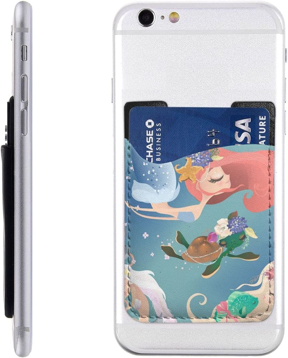 Cute Mermaid Girls Phone Card Wa Selling rankings Holder Free shipping anywhere in the nation Stick Cell On