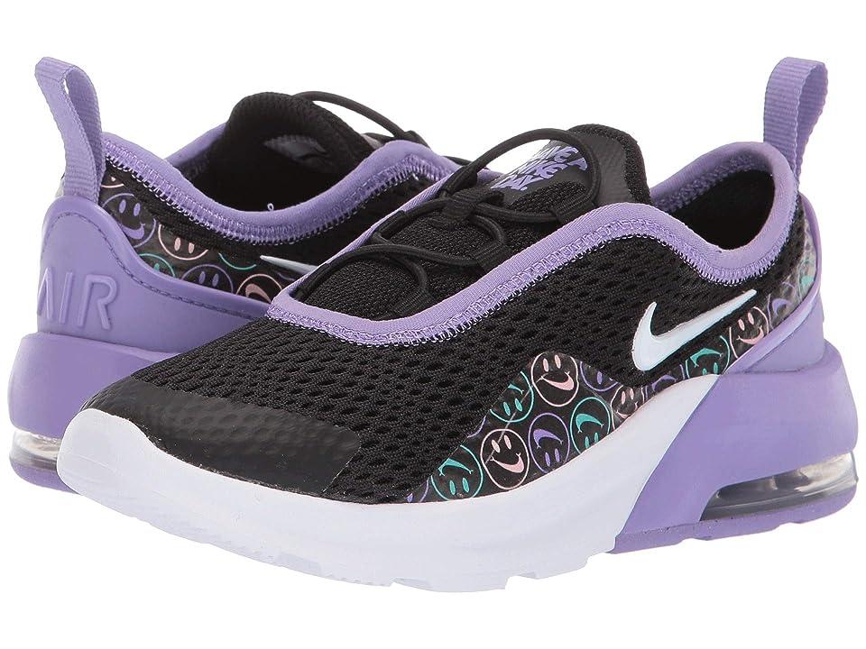 Nike Kids Air Max Motion 2 (Little Kid) (Black/White/Space Purple/Cabana) Girls Shoes