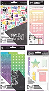 Mini Happy Planner Healthy Hero Accessories - Dashboards, Folders, Sticky Notes and Habit Tracking Half-Sheets - 4 Items