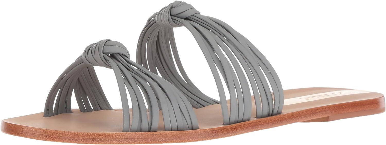 KAANAS Womens Iguazu Multi Strap Knotted Flat Leather Sandal Flat Sandal