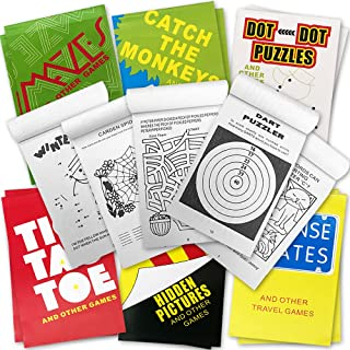 ArtCreativity Mini Activity Books for Kids - Set of 12-30 Paged Assorted Workbook Pads - Fun Road trip Travel Games and Ac...