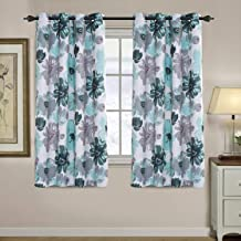 Blockout Curtains for Living Room Printed Floral Blackout Curtain Draperies Home Decoration Eyelet Light Blocking Winow Dr...